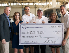 Sterling Currency Group Donates to Angel Flight